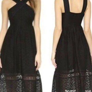 JOA Los Angeles Black Midi Dress Size S